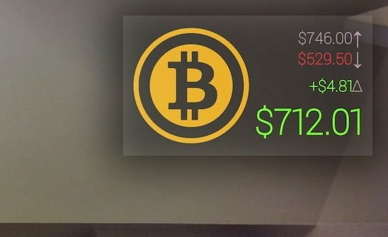 BTCGlass - Bitcoin ticker for Google Glass